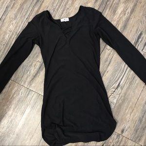 Black Criss Cross Mini Dress